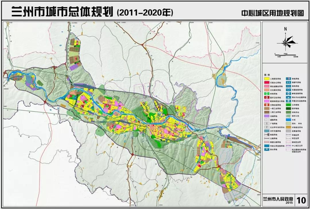 榆中县行政地图
